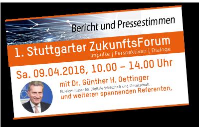 1. Stuttgarter ZukunftsForum Sa. 09. April 2016