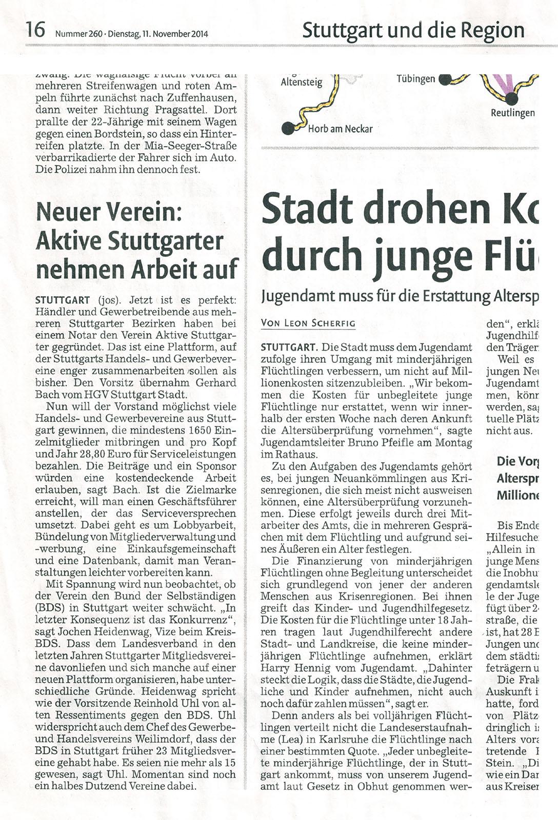 Neuer Verein : aktive Stuttgarter nehmen Arbeit auf